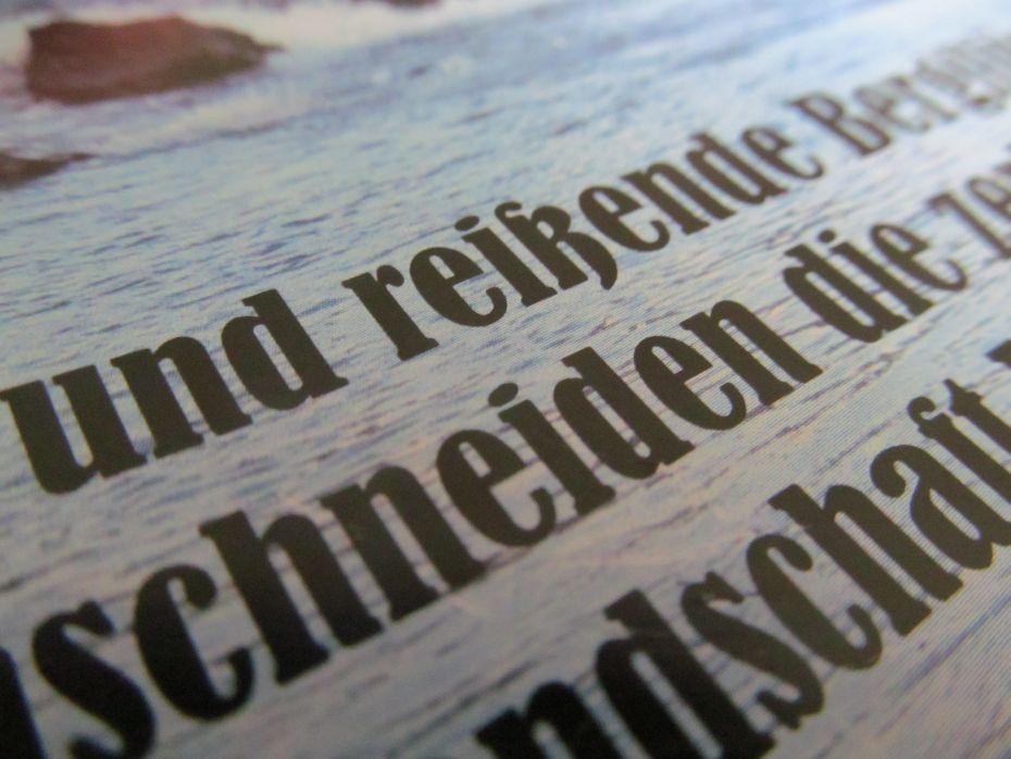 Snapfish: Die Schriftdarstellung im Druck.