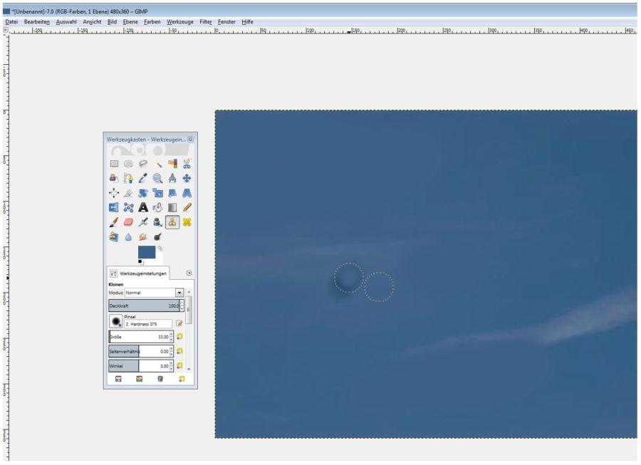 Klonwerkzeug GIMP 3