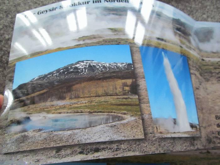 Beispiel für ein glänzendes Foto in einem Echtfotobuch. Deutlich sind die Spiegelungen zu erkennen.