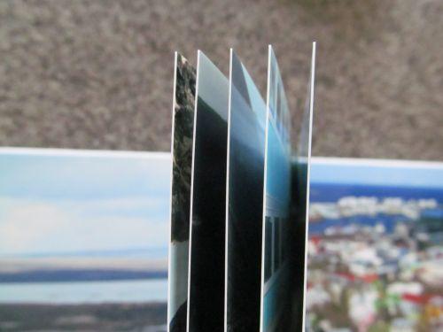 Sehr schön griffig und stabil: Buchseiten aus Fotopapier