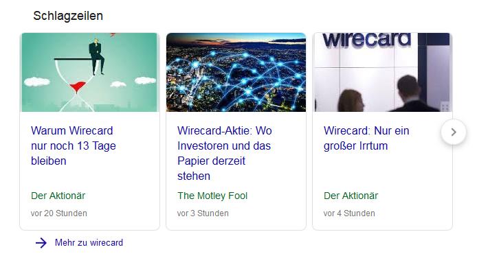 Wirecard Berichterstattung