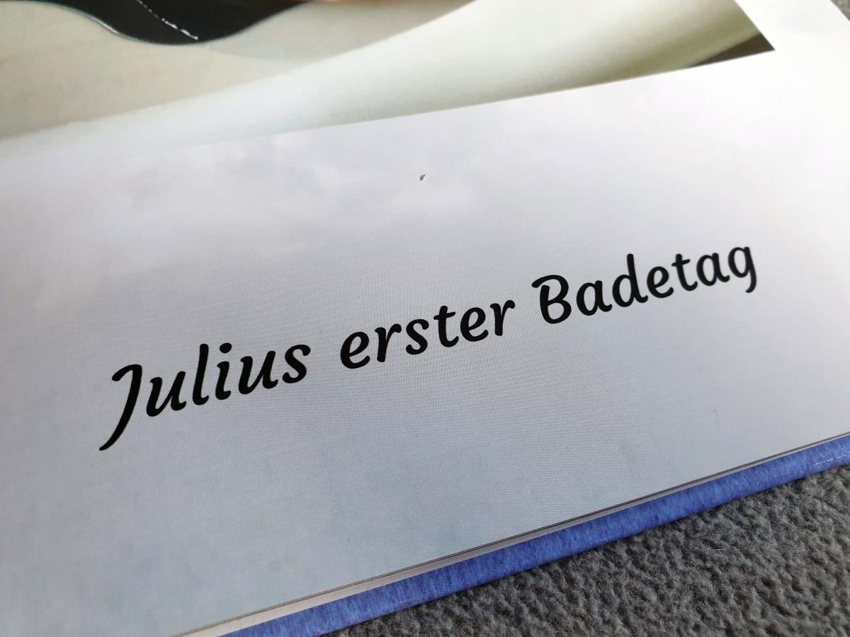 Die Schrift in unserem Testfotobuch von Bilder.de ist klar und scharf gedruckt