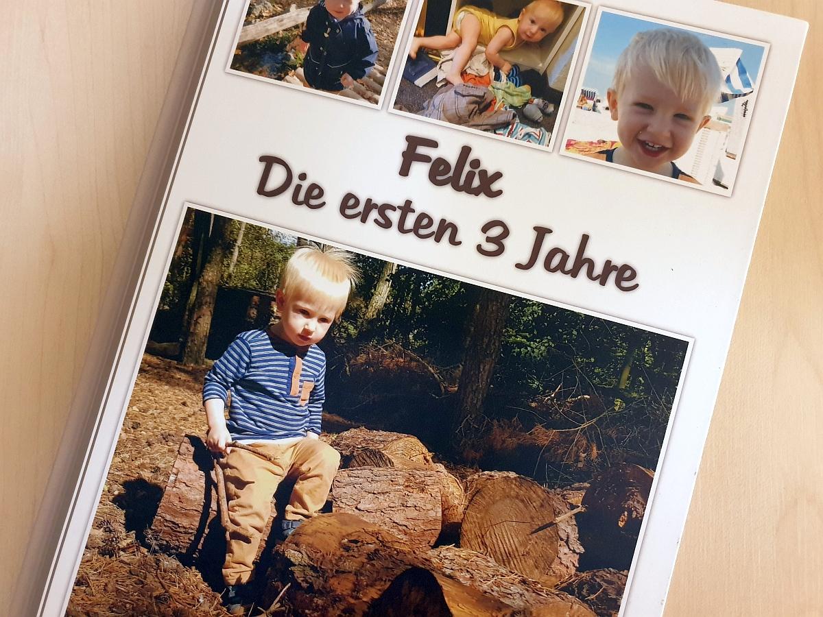 Das Cover unseres Testfotobuchs von fotobuch.de
