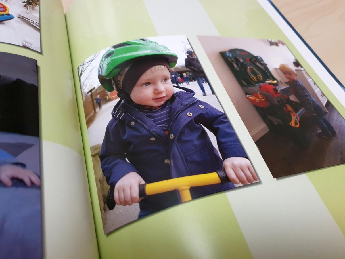 Beispiel für den Fotodruck in unserem Testbuch von posterXXL
