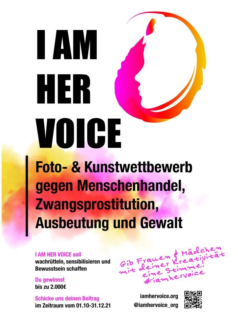 Der Fotowettbewerbe I AM HER VOICE 2021 will von Missbrauch betroffenen Frauen und Mädchen eine Stimme geben!